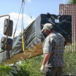 Разгрузка, транспортировка и складирование клееного бруса