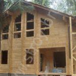 Дом в лесу из клеёного бруса