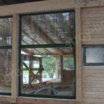 Витражное остекление деревянных домов