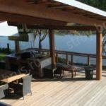 Дом из клееного бруса с открытой террасой