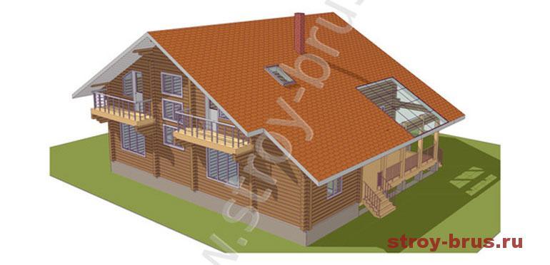 Современный комфортабельный дом из клееного бруса