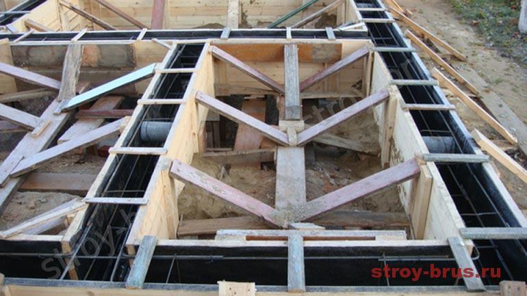 Как выглядит опалубка фундамента деревянного дома