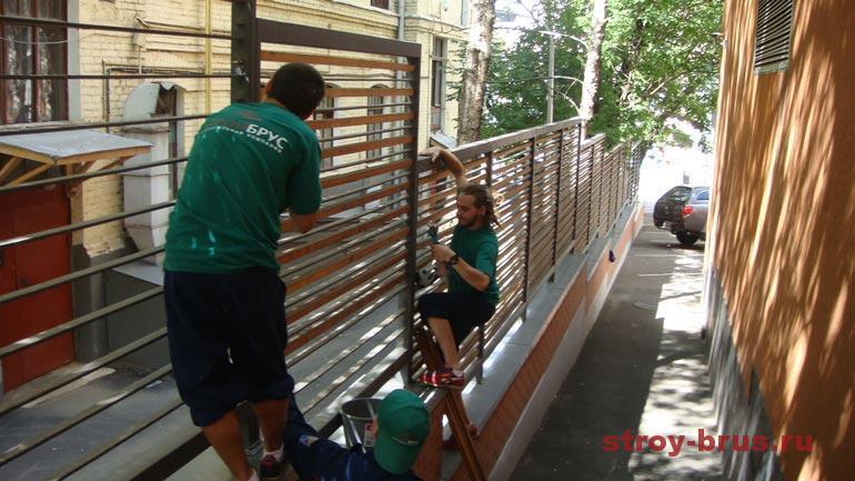 Как монтируются детали при реконструкции деревянных конструкций