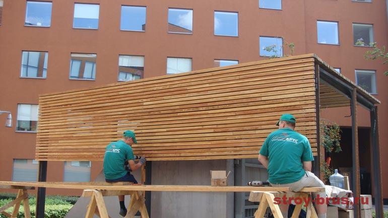 Процесс реконструкции конструкций из дерева на фото