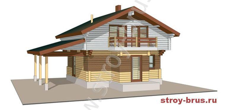Деревянный дом - минимализм