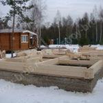 Строительство бань из клееного бруса