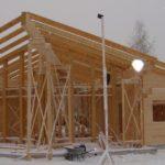 Зимнее строительство деревянного дома