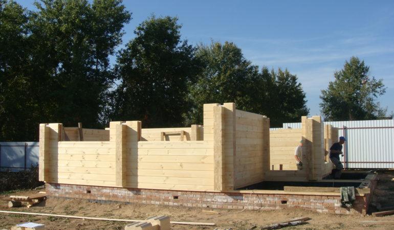 Дом-баня КП Соколиная Гора на промежуточном этапе строительства