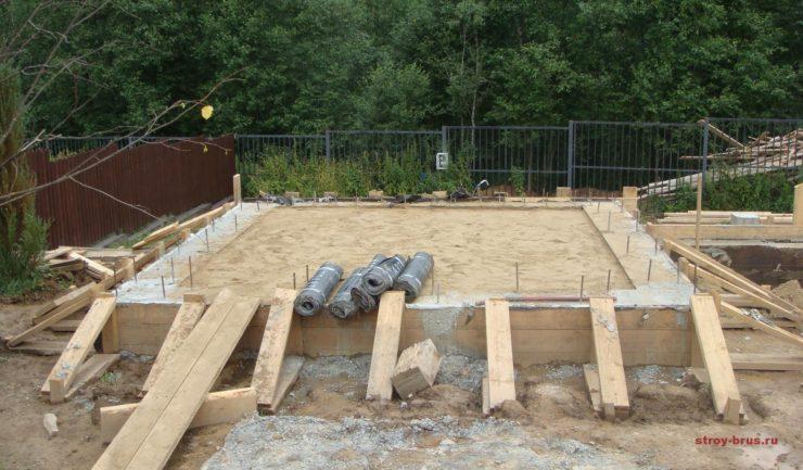 Фото с площадки строительства бани Брусландия