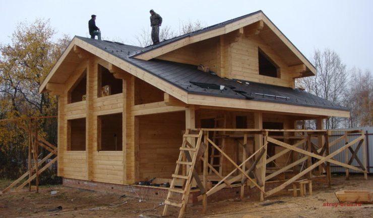 Строительство дома КП Соколиная Гора