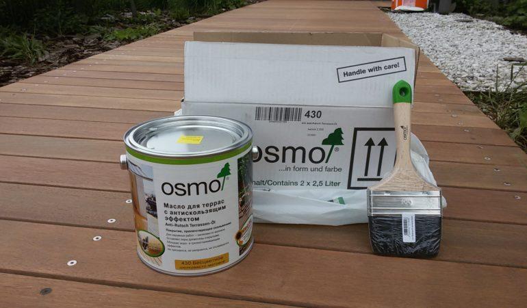 Масло для террас с антискользящим эффектом OSMO