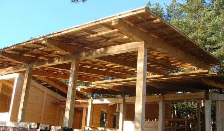 Строительно-монтажные работы по возведению гостевого дома с открытой террасой завершены