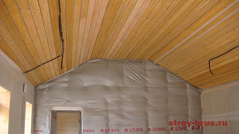 Отделка деревянного гаража