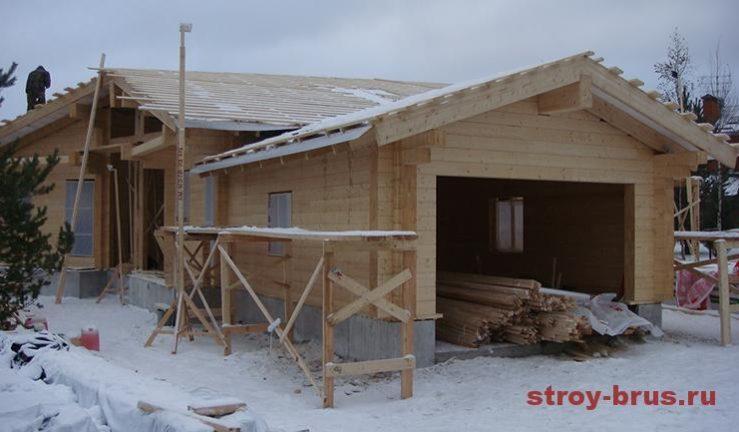 Зимнее строительство крыши