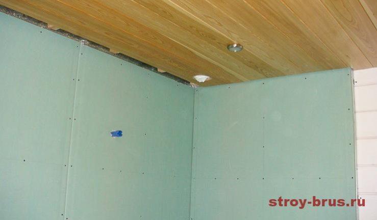 Устройство стен из влагостойких панелей в бане