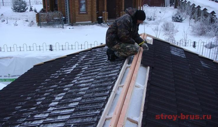 Монтаж метробонда зимой