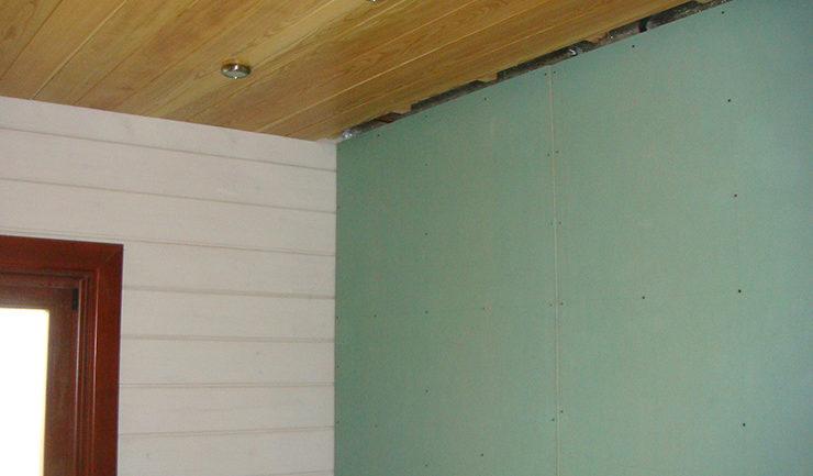 Как выглядят стены и потолки пред кладкой облицовочной плитки