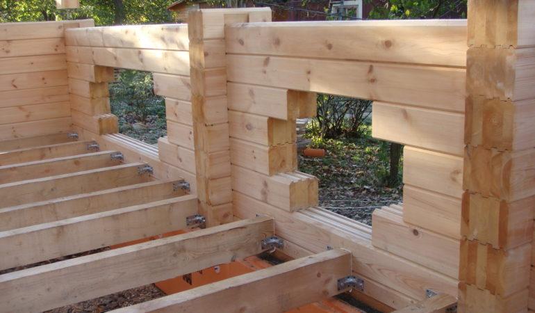 Промежуточный этап строительства дома с баней д. Шохово