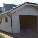 Деревянный каркасный гараж – КП Витро Кантри