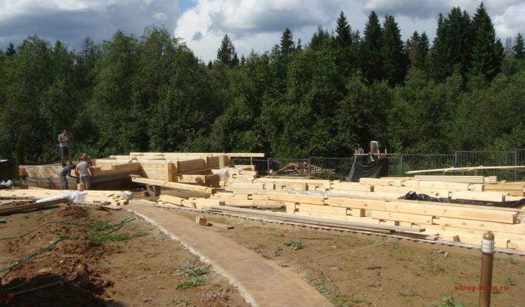 Домокомплект для сооружения деревянной бани