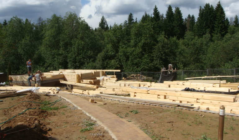 Стройматериал для сооружения деревянной бани