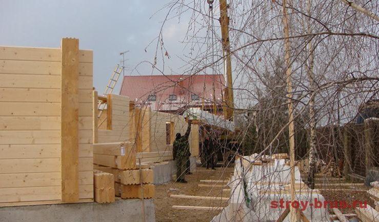 Разгрузка и складирование домокомплекта