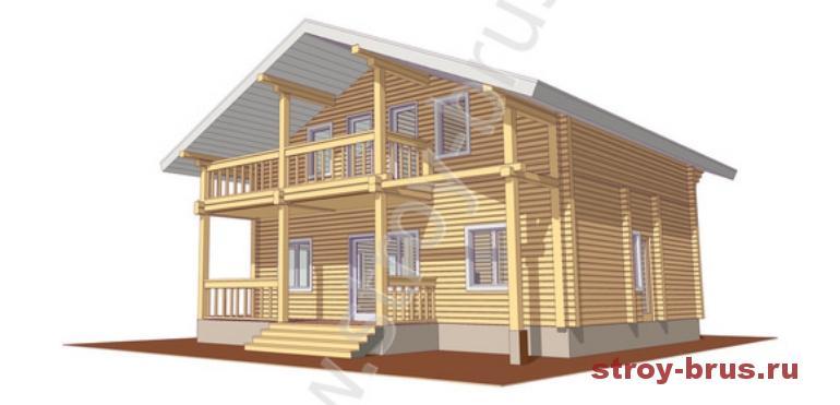 Двухэтажный дом Куб