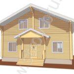 Деревянный дом Куб за 2 400 000 рублей