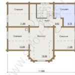 План второго этажа дома Терем