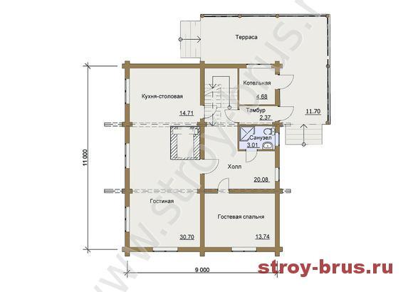 План-схема дома Фараон