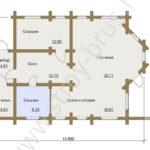 План-схема деревянного дома Остог
