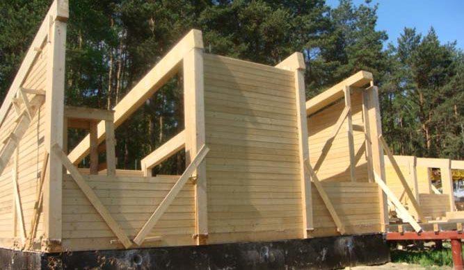 Процесс строительства гостевого дома