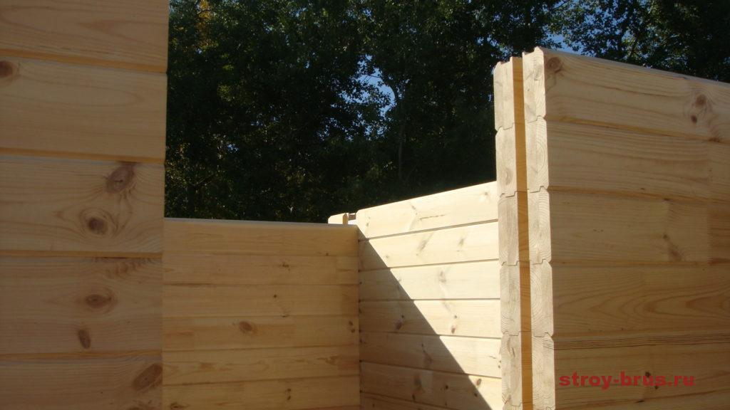 Монтаж бруса в стеновые конструкции