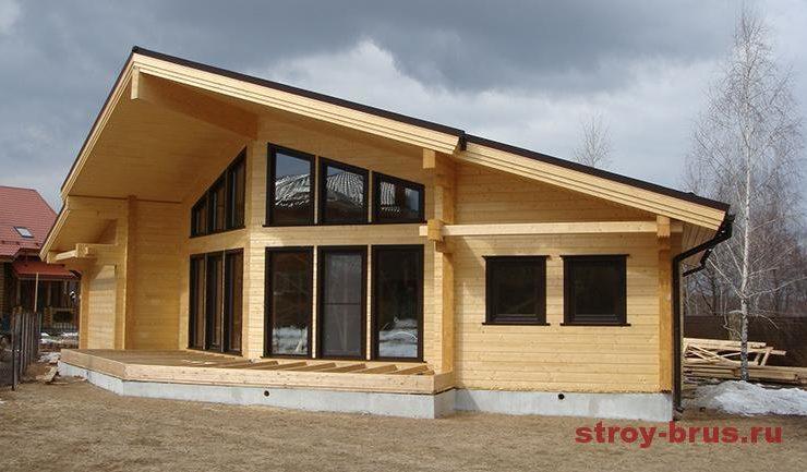Витражное Остекление дома из клееного бруса