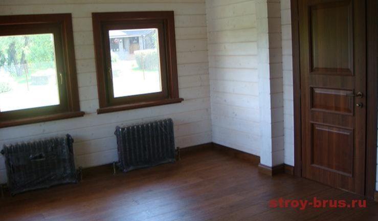 Комната готова для проживания после установки радиаторов отопления