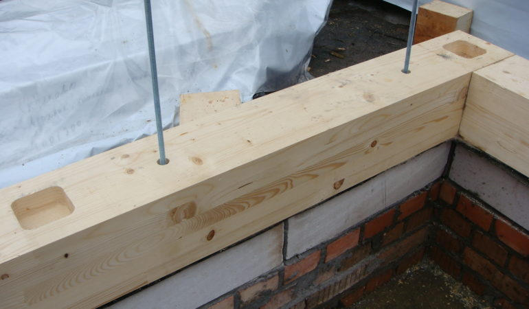 Начало строительства деревянного этажа