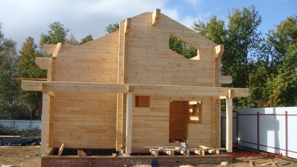Процесс возведения дома-бани КП Соколиная Гора