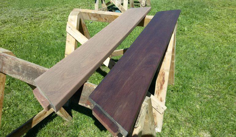Результат обработки деревянного изделия терассным маслом