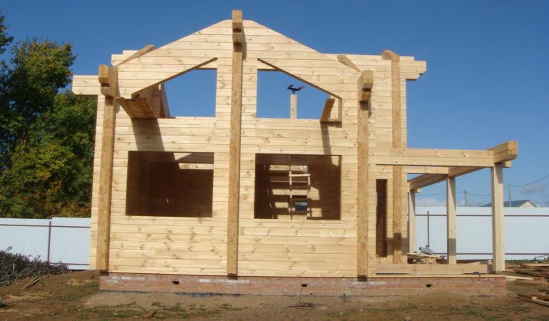 Дом-баня КП Соколиная Гора в разгар строительства