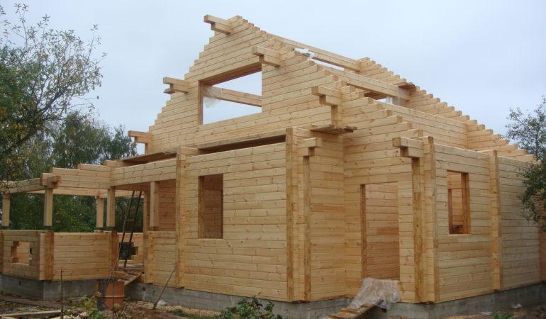Возведение деревянного дома с баней д. Шохово