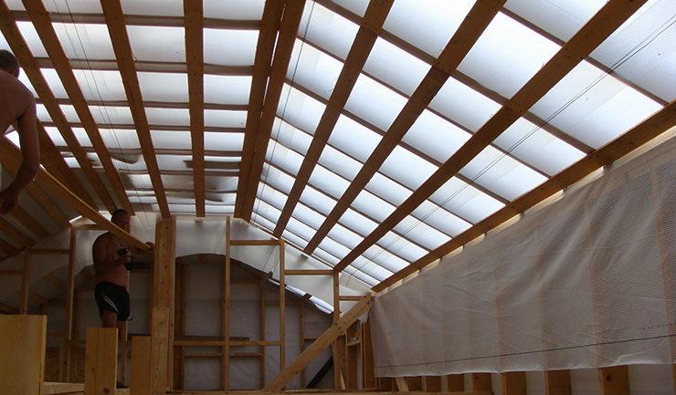 Пароизоляция деревянного гаража