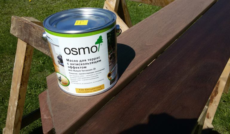 Масло OSMO в обработке поверхности деревянной конструкции
