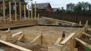 Подготовка к строительству фундамента бани