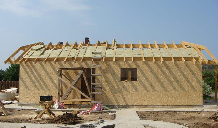 Теплоизоляция крыши деревянного гаража