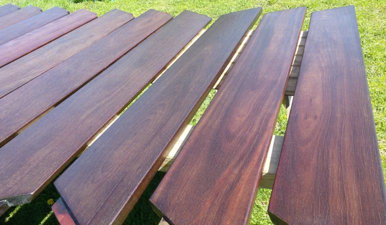 Деревянные изделия окрашены  Масло OSMO