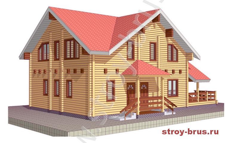 Современный деревянный дом Усадьба