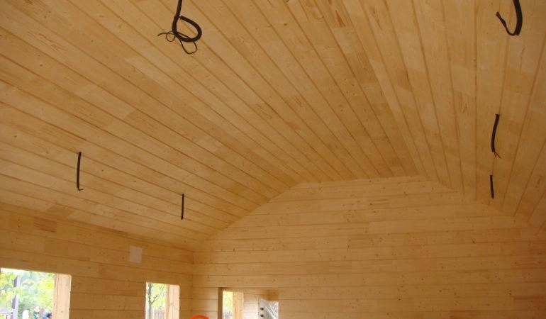 Внутренняя отделка гаража из деревянного каркаса