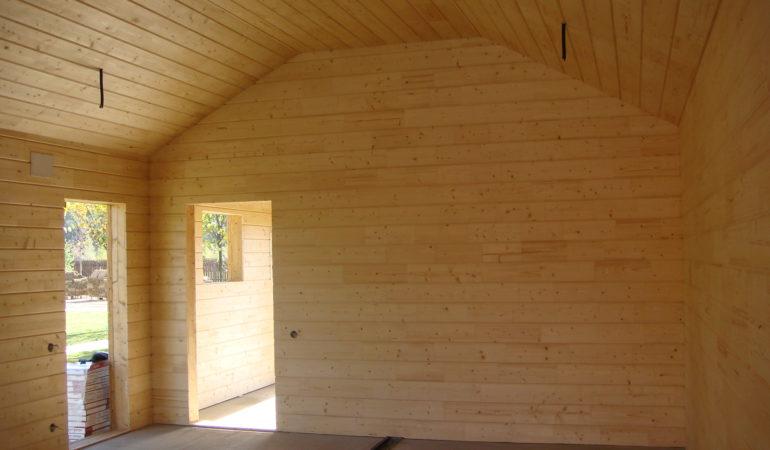 Отделка вагонкой деревянного гаража