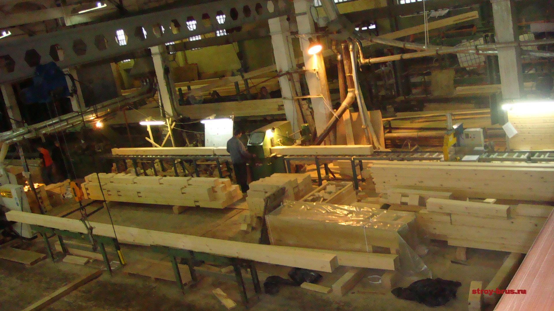 Производство клееного бруса