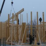 Строительство деревянных домов и бань из бруса зимой